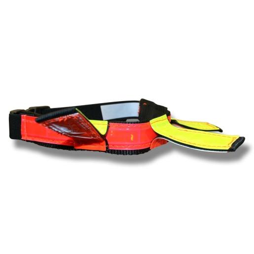 Reflex halsband neon röd/gul