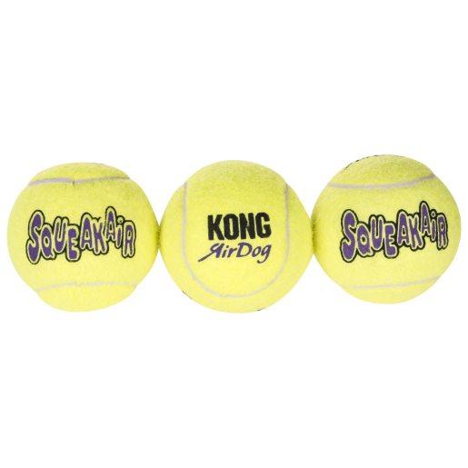 Hundleksak Air Kong Squeaker Tennisboll 3-pack