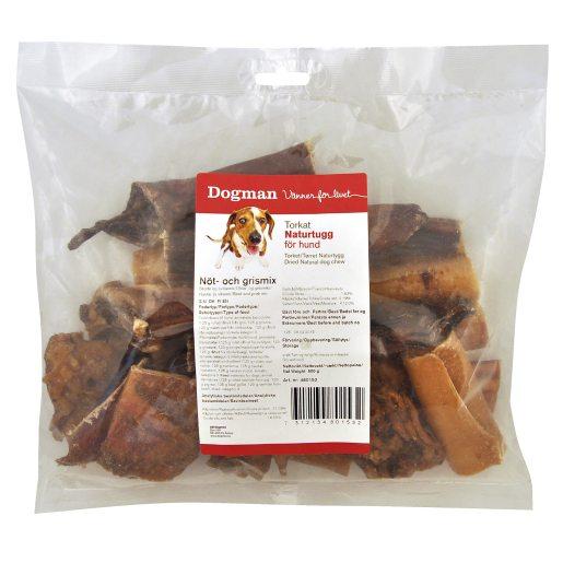 Dog chew mix 500 g nöt- och fläskmix