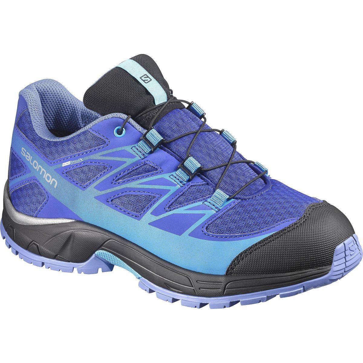 best sneakers 860d3 1b85e blå salomon wings cswp j vandringssko junior hikingskor barn