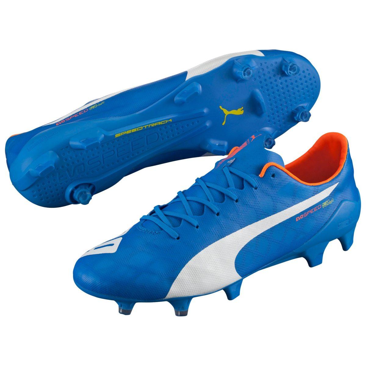 reputable site a4f6f b2ec2 blå puma evospeed 1.4 sl fg fotbollssko senior fotbollsskor