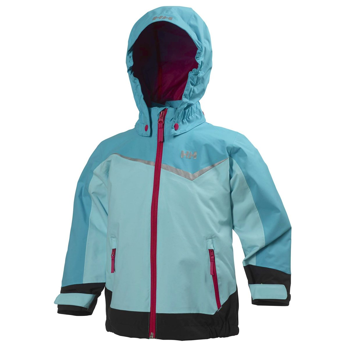 dde06fef blå helly hansen shelter jacket kids light aqua skaljackor barn & jr