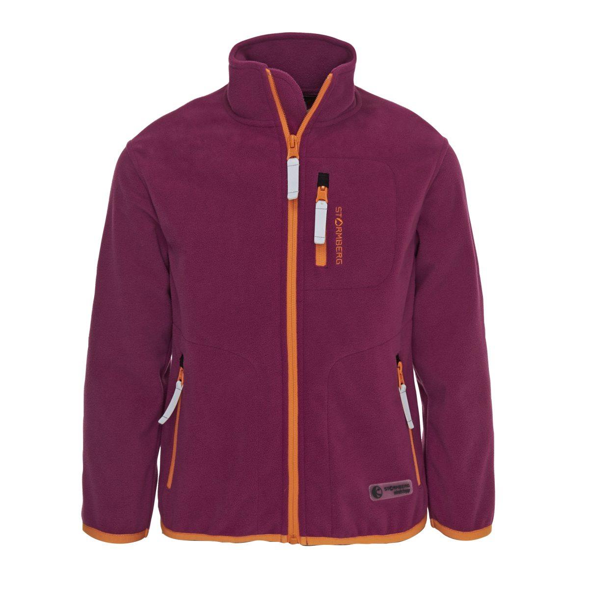 rosa stormberg bakketopp fleece jacket vindtät fleecejacka barn  fleecetröjor   jr 5977a3e39fd6c