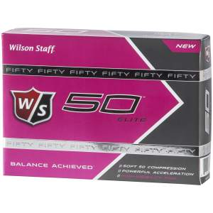 W/S Fifty Elite 12-Ball Pink, golfball