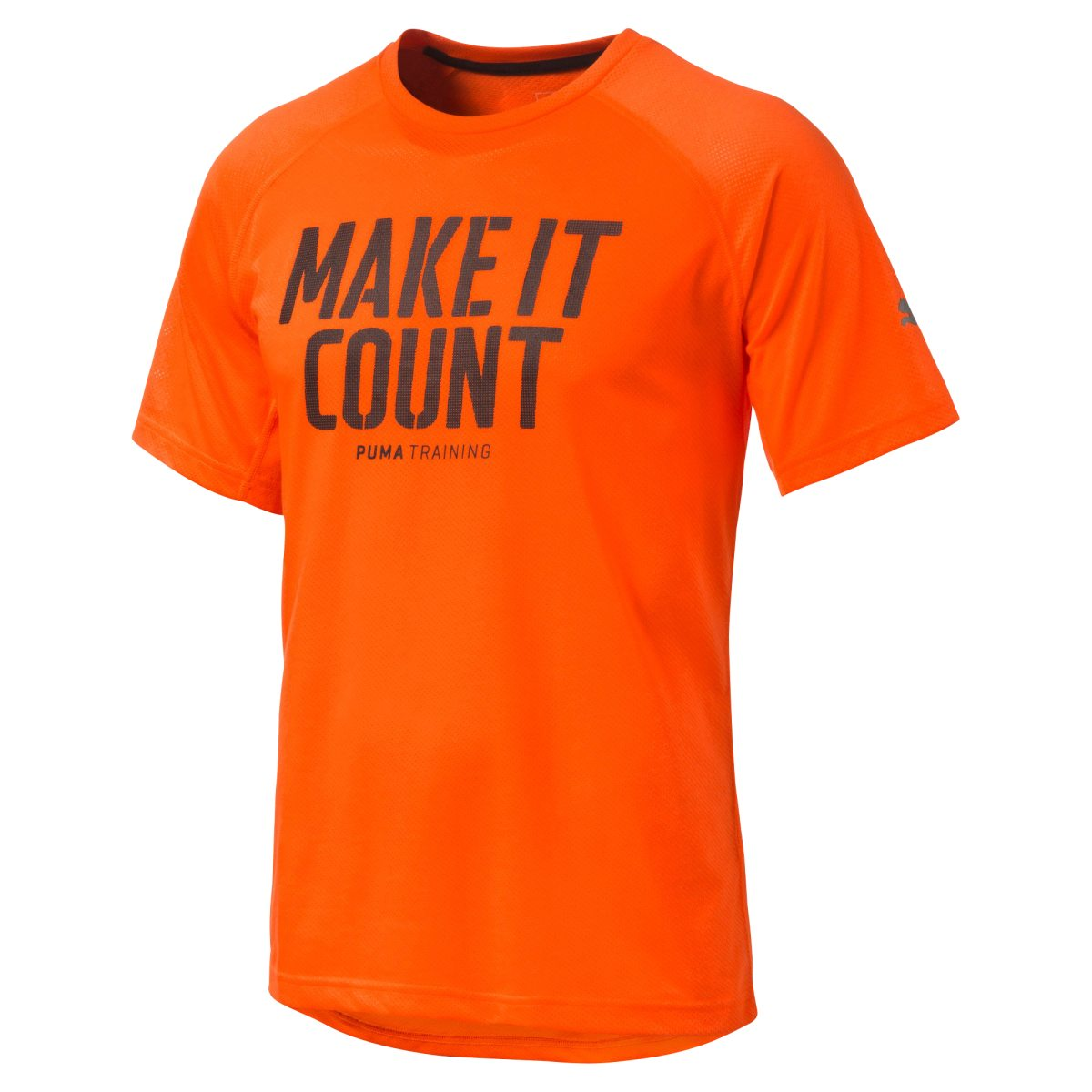 e822155d oransje puma dri release ss graphic tee treningstrøye herre trening t  skjorte no
