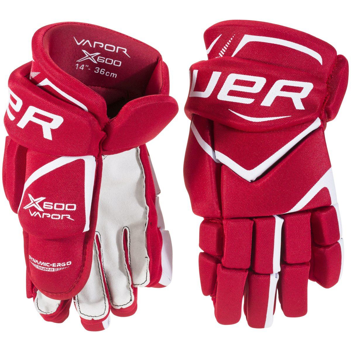 finest selection 32fbf db784 röd bauer vapor x600 glove sr euro red hockeyhandskar