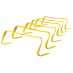 SKLZ 6X Hurdles 6pack Yellow