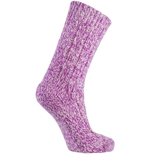 Heavy knit sock 2pk PURPLE