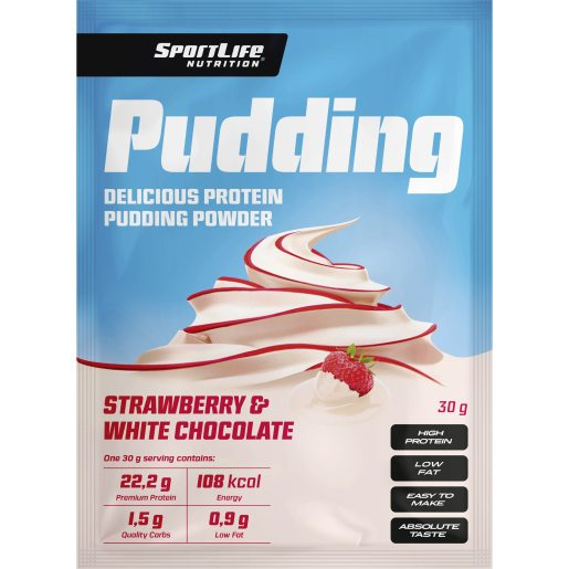 Sportlife Pudding Strawberry-White cho