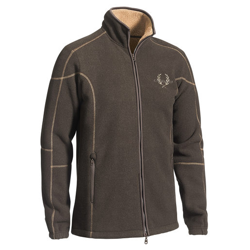 Shelby Fleece Cardigan Brown fleecejacka