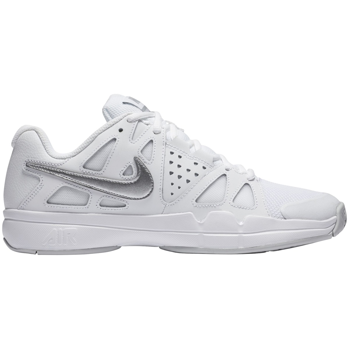 sale retailer 3bffe 7545f nike air vapor advantage wmn white metallic silve tennisskor dam