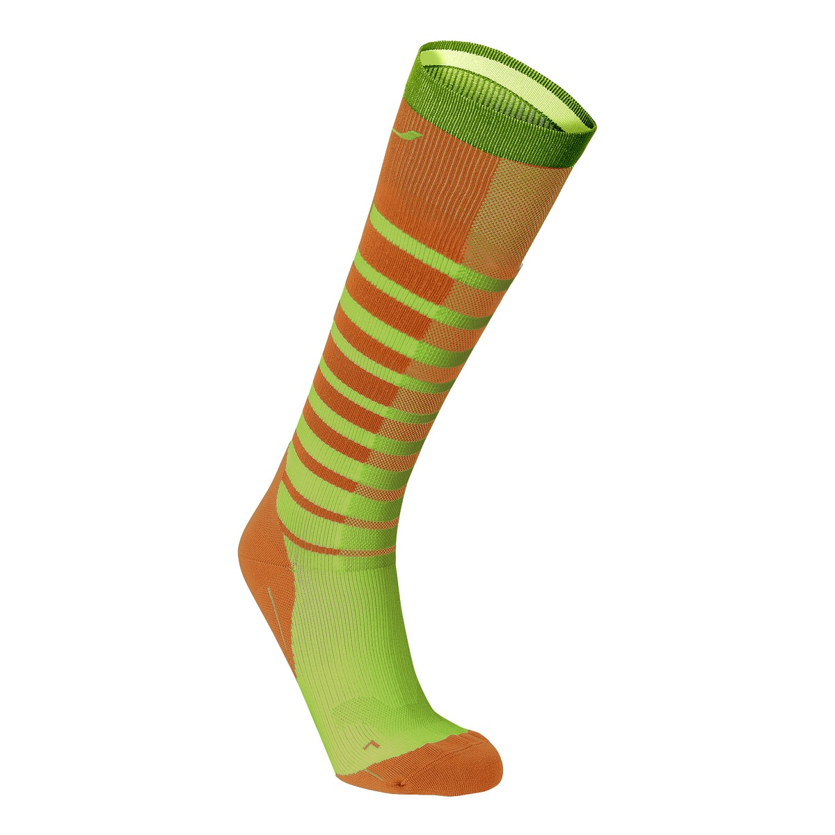 20312aa9def gul 2xu striped run compression socks mns sunburst orange brig  funktionsstrumpor