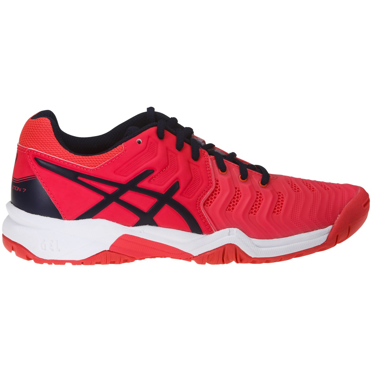 new style df66e cc36e röd asics gel resolution 7 gs tennissko junior tennisskor barn