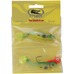 IFISH The Shade 8cm, 2 jiggar + 1 huvud 10g 2/0, #1 Hot Pike Hot Pike