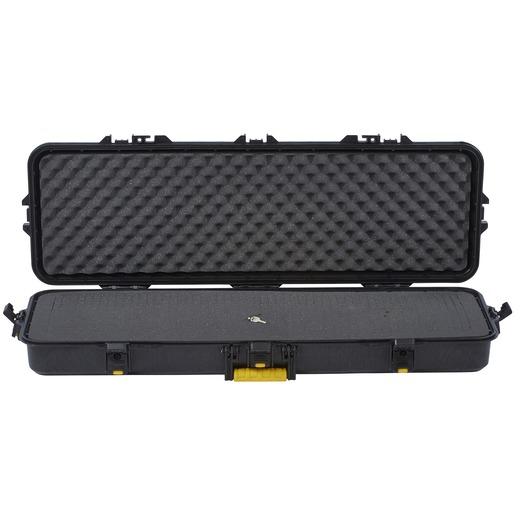 Plano AW Rifle Case 42″ - Black with Yellow Latches and Handle STD
