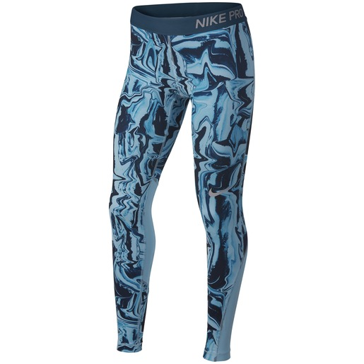 Nike Girls Nike Pro Tights All Over Print 1, treningstights junior S