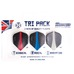 Retina Flights Tri Pack, dartvinger, 9-pack