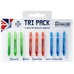Supergrip Shaft Tri Pack Medium, dartstikan varsisarja 9 kpl