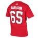 NHL SILVER TEE Name and number-18 OSE # 65 KARLSSON
