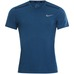 M Nk Cool Miler Top Ss Blue Force/Htr/Green