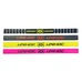 Hairband Kit Elastica 4-pack Neon 18, hårbånd